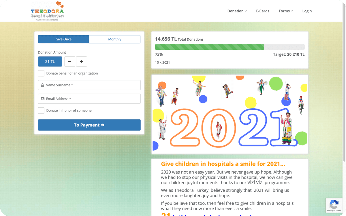 Create Donation Pages Quickly