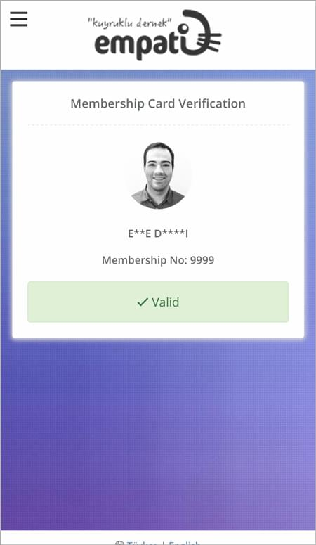 Online Verification with QR Code